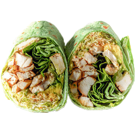 600 West Specialty Wrap (Grilled Chicken, Avocado, Sprouts, Cucumber, Spinach, Hummus Spread )
