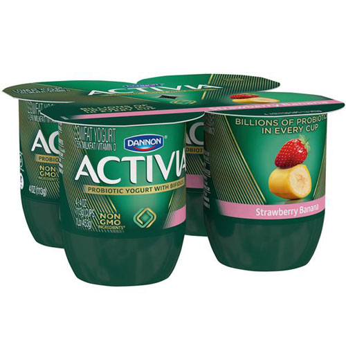 ACTIVIA STRAWBERRY BANANA 4pk