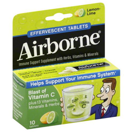 AIRBORNE LEMON LIME 10pc
