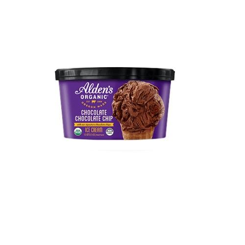 ALDENS ORGANIC ICE CREAM CHOCO CHOCO CHIP 1qt