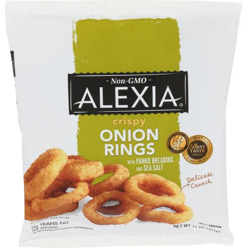 ALEXIA NON GMO CRISPY ONION RINGS WITH PANKO BREADING & SEA SALT 11oz