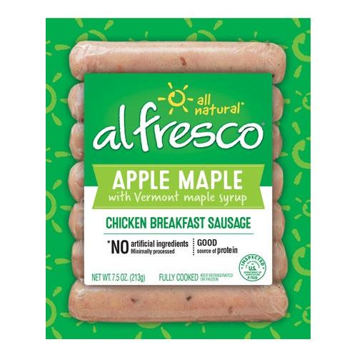 ALFRESCO APPLE MAPLE CHICKEN BREAKFAST SAUSAGE 7.5oz.