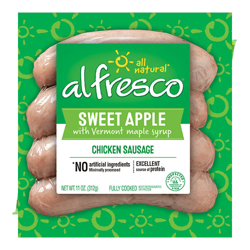 ALFRESCO SWEET APPLE CHICKEN SAUSAGE 11oz.