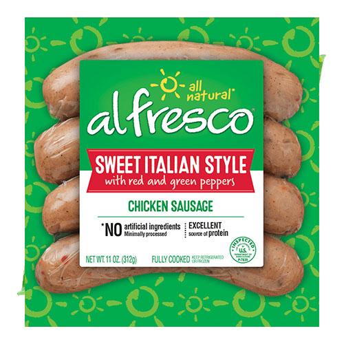 ALFRESCO SWEET ITALIAN STYLE CHICKEN SAUSAGE 11oz.
