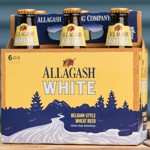 ALLAGASH WHITE BELGIAN-STYLE WHEAT BEER 12oz 6pk.