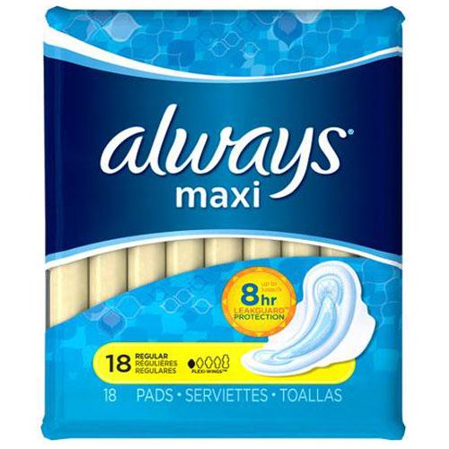 ALWAYS MAXI REGULAR 18pk