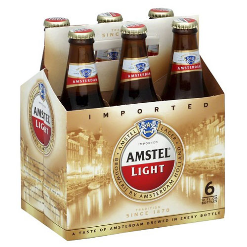 AMSTEL LIGHT LAGER 6pk 12oz.