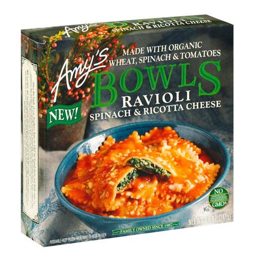 AMYS BOWLS RAVIOLI SPINACH & RICOTTA CHEESE 8.5oz.