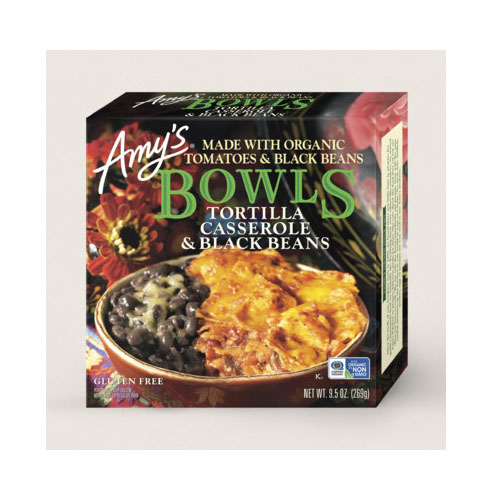 AMY'S BOWLS TORTILLA CASSEROLE & BLACK BEANS 9.5oz.