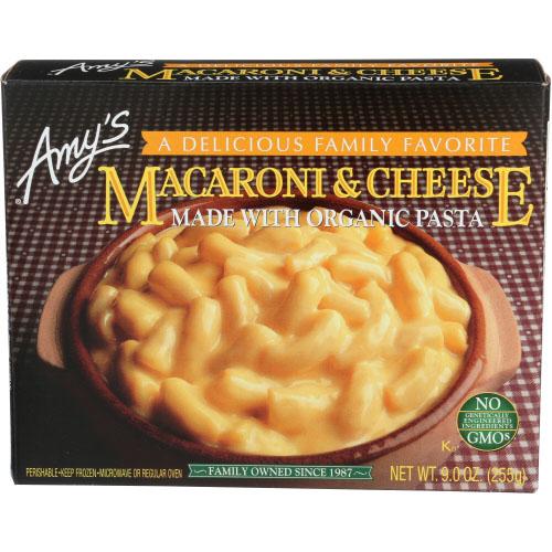 AMY'S ENTREE MACARONI & CHEESE W ORGANIC PASTA 9oz