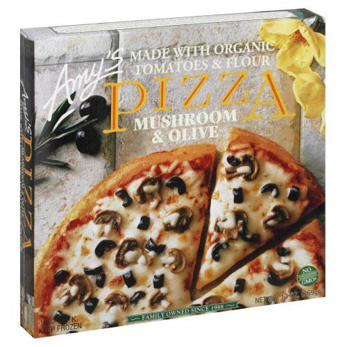 AMY'S PIZZA MUSHROOM & OLIVES 13oz