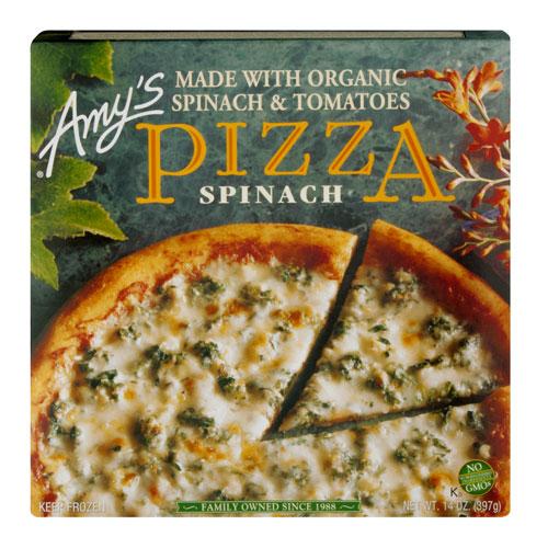 AMY'S PIZZA SPINACH & TOMATO 14oz