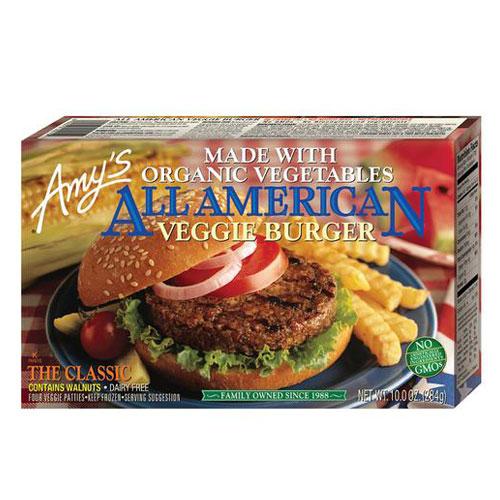 AMY'S VEGGIE BURGER ALL AMERICAN 10oz