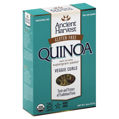 ANCIENT HARVEST GLUTEN FREE QUINOA VEGGIE CURLS 8oz