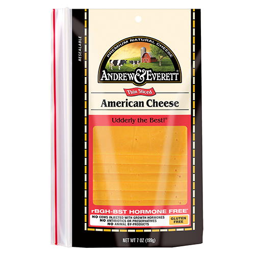 ANDREW & EVERETT SLICED CHEESE AMERICAN 7oz.