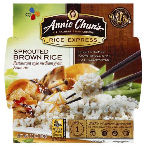 ANNIE CHUNS GLUTEN FREE SPROUTED BROWN RICE 6.3oz