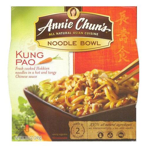 ANNIE CHUNS NOODLE BOWL KUNG PAO 8.6oz