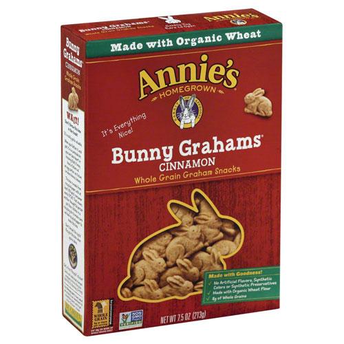 ANNIE'S BUNNY GRAHAMS CINNAMON 7.5oz