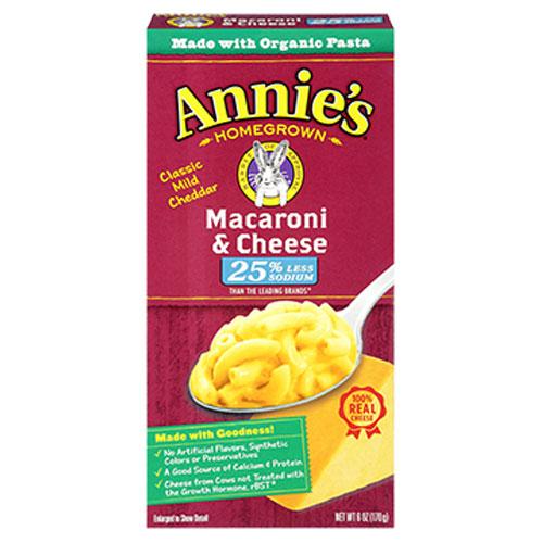 ANNIE'S MAC & CHEESE LOW SODIUM 6oz