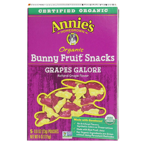 ANNIE'S ORGANIC FRUIT SNACKS GRAPES 4oz