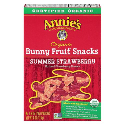 ANNIE'S ORGANIC FRUIT SNACKS STRAWBERRY 4oz