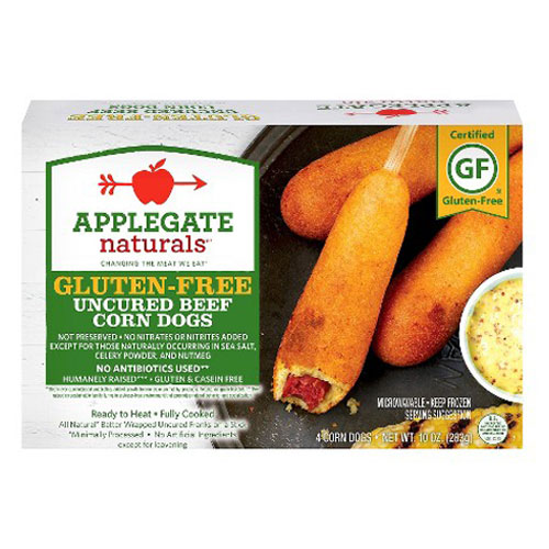 APPLEGATE GLUTEN FREE CORN DOG UNCURED BEEF 4pk 10oz