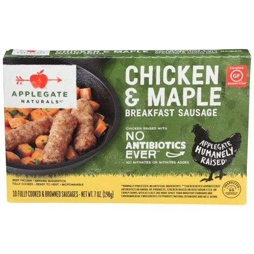 APPLEGATE NATURALS GLUTEN FREE CHICKEN & MAPLE BREAKFAST SAUSAGE 7oz