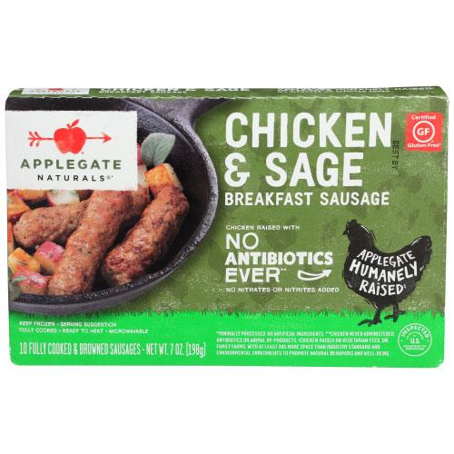APPLEGATE NATURALS GLUTEN FREE CHICKEN & SAGE BREAKFAST SAUSAGE 7oz