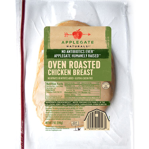APPLEGATE NATURALS OVEN ROASTED CHICKEN BREAST 7oz