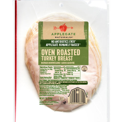 APPLEGATE NATURALS OVEN ROASTED TURKEY BREAST 7oz