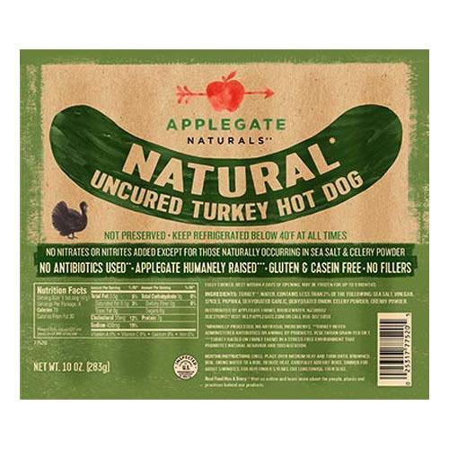 APPLEGATE NATURALS UNCURED TURKEY HOT DOG 10oz.