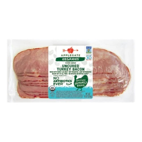 APPLEGATE ORGANICS HICKORY SMOKED UNCURED  TURKEY BACON 8oz
