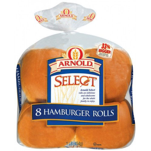 ARNOLD HAMBURGER ROLLS 16oz