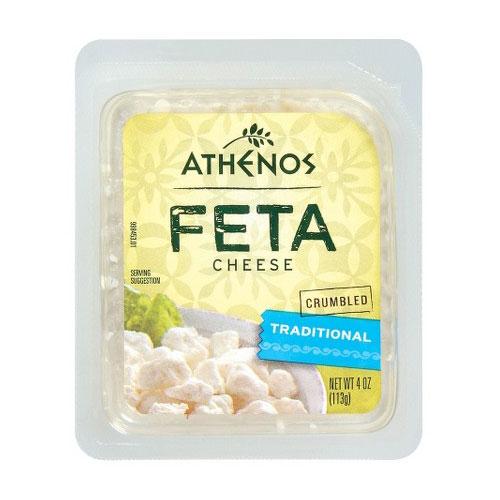 ATHENOS FETA CHEESE CRUMBLED 4oz.