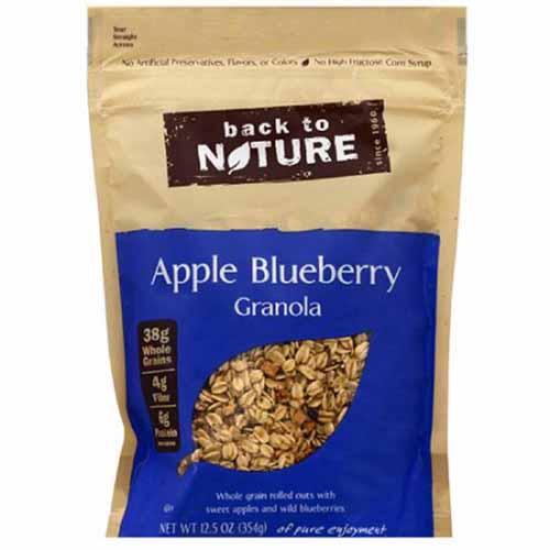 BACK TO NATURE APPLE BLUEBERRY GRANOLA 12.5oz