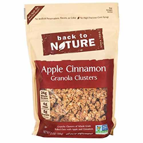 BACK TO NATURE  APPLE CINNAMON GRANOLA CLUSTERS 11oz