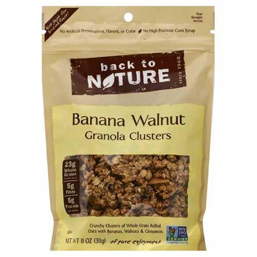 BACK TO NATURE BANANA WALNUT GRANOLA CLUSTERS 11oz