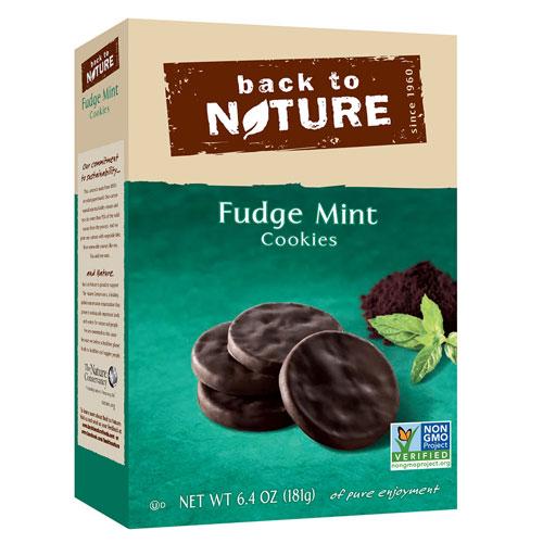BACK TO NATURE COOKIES FUDGE MINT 6.4oz