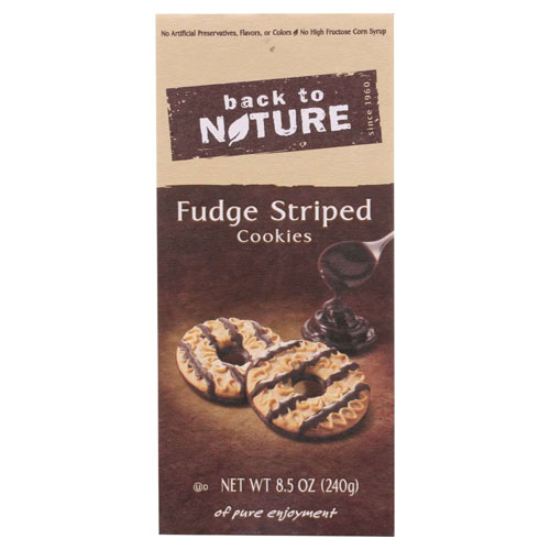 BACK TO NATURE COOKIES FUDGE STRIPED 8.5oz