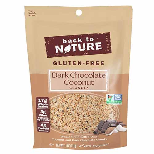 BACK TO NATURE GLUTEN FREE DARK CHOCOLATE COCONUT GRANOLA 11oz