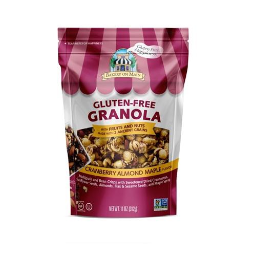 BAKERY ON MAIN GLUTEN FREE GRANOLA NUTTY CRANBERRY ALMOND MAPLE 12oz