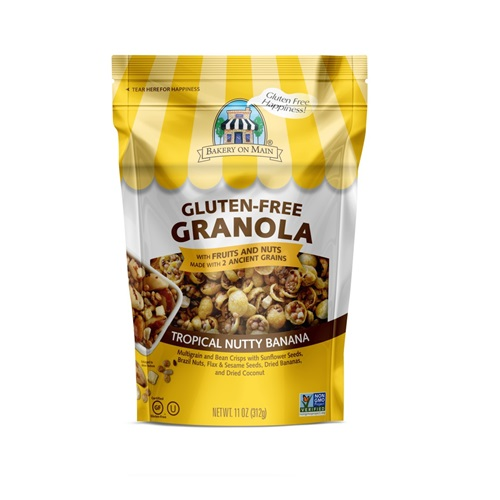 BAKERY ON MAIN GLUTEN FREE GRANOLA TROPICAL NUTTY BANANA 11oz
