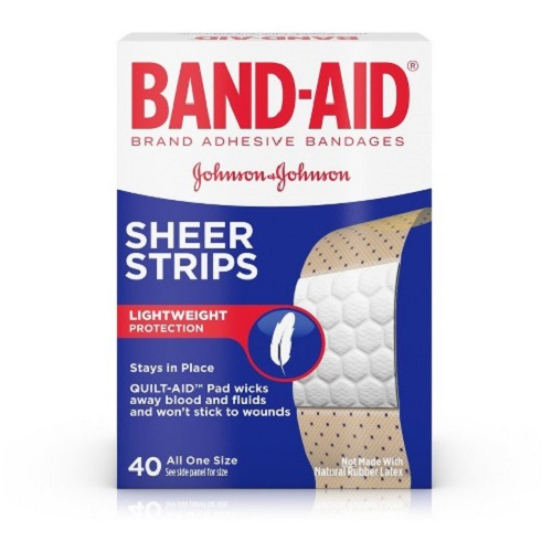 BAND-AID SHEER STRIPS ADHESIVE BANDAGES 40pcs