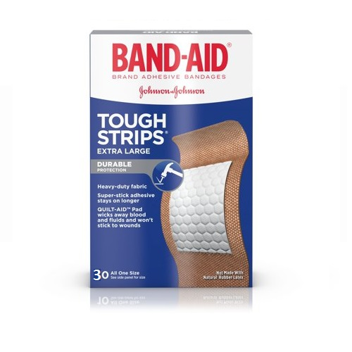 BAND-AID TOUGH STRIPS EXTRA LARGE ADHESIVE BANDAGES 30pcs