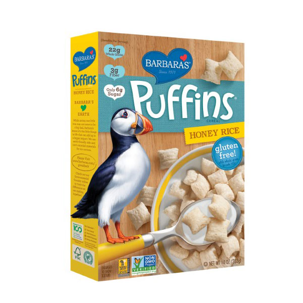 BARBARA'S PUFFINS CEREAL HONEY RICE 10oz