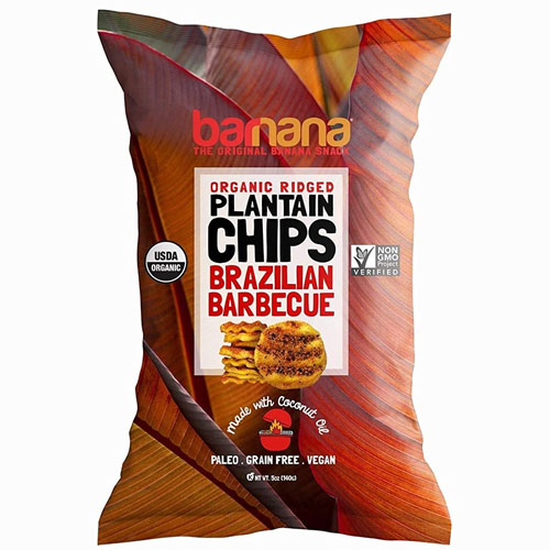 BARNANA ORGANIC PLANTAIN CHIPS BRAZILIAN BARBEQUE 5oz