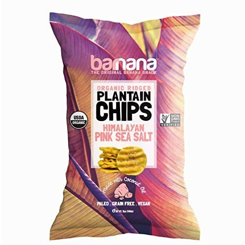 BARNANA ORGANIC PLANTAIN CHIPS HIMALAYAN PINK SEA SALT 5oz