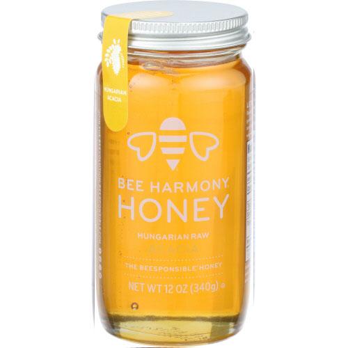 BEE HARMONY ORGANIC RAW HONEY HUNGARIAN 12oz