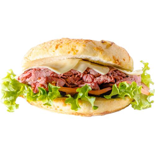 Beef Antipasto - Roast Beef, Provolone, Lettuce, Tomato, Onion, Green Pepper, Olives, Italian Dressi