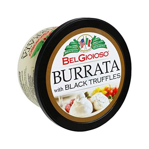 BEL GIOIOSO BURRATA WITH BLACK TRUFFLES 8oz.